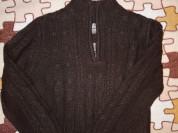 Свитер вязанный коричневый р. 110