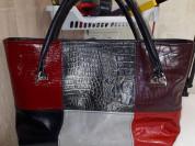 сумка из натуральной кожи пэчворк