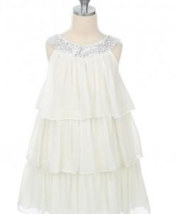 Платье белое, р. 4
