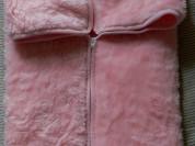 Плед - конверт новый! розовый, подкладка хлопок-45