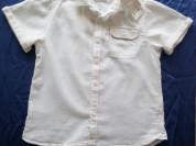 Белая рубашка next лен хлопок р. 110
