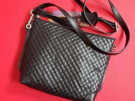 Новая кожаная черная сумка Gaude Италия