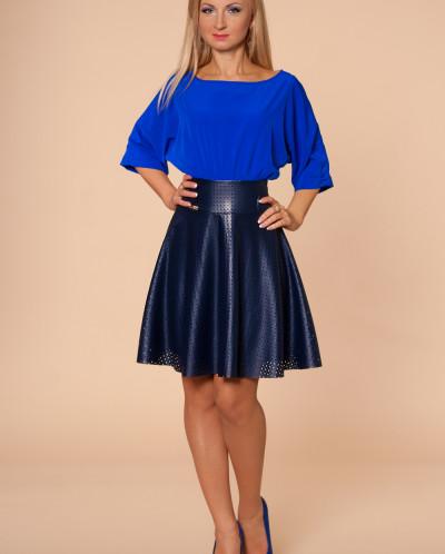 Платье № 874-синий-т.синий