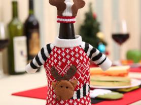 Новогодняя одежда для бутылок, свитер + шапочка!