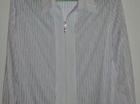 Блузка белая на молнии SANTEX - р.52-54