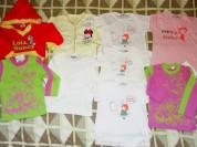 Пакет одежды для малышек р. 81/86 (10 вещей)