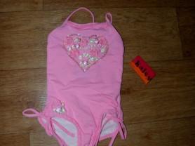 Слитный розовый купальник kate mack 3г.
