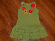 Зеленое платье gymboree 4-6 лет