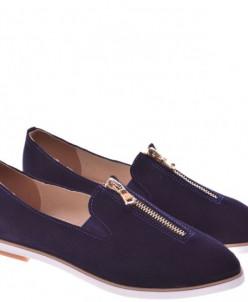 Женские замшевые туфли на молнии