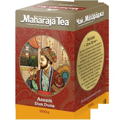 """Чай Махараджа индийский чёрный байховый Ассам """"Дум дума 100г"""