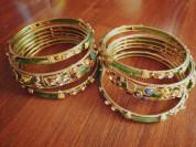 Индийские браслеты, набор из 6 шт