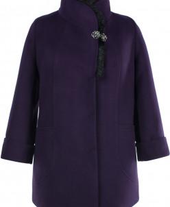 02-1975 Пальто женское утепленное Кашемир Фиолетовый