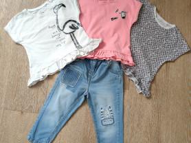 Next комплект джинсы + 3 футболки, 1,5-3года