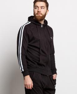 Мужской спортивный костюм 18250 черный белый