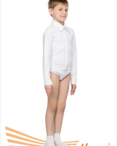 Рубашка детская (мужская) бальная (полиамид) 2 цв,28-48