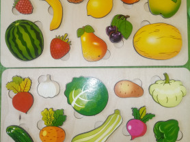 Рамка-вкладыш овощи, фрукты