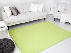 Новый зеленый ковер с коротким ворсом 170x230см