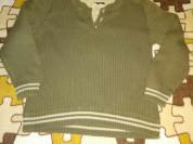 Стильный детский свитер, хлопок р.98-110, цвет хак