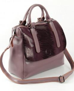 Женская кожаная сумка 1727 Лазер Колокасия Колор