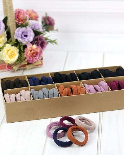 Набор цветных резинок для волос в коробке 100 шт
