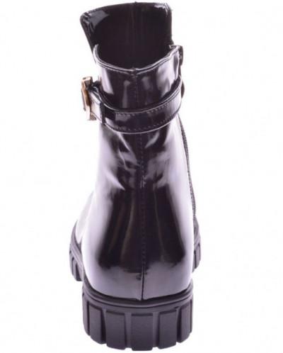 Подростковые лаковые ботинки (байка/экомех/цигейка)