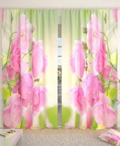 Фотошторы Воздушные цветки Габардин 150*300