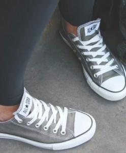 Серые низкие Converse AllStars!