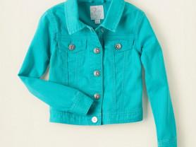 Бирюзовая джинсовая куртка на 5-6 лет, США