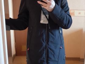 Новая черная куртка парка на весну 40 42 44 и 48