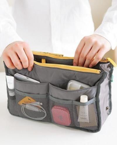 Органайзер в сумку серый
