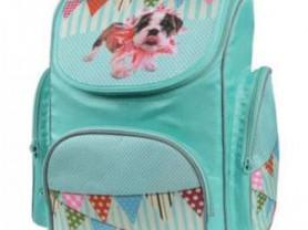 Голубой ранец с собачкой (новый)