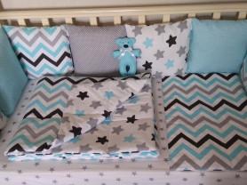 Бортики, комплект в кроватку 12 предметов