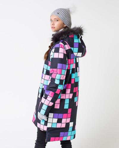 75023 Пальто (CUBBY)темно-серый