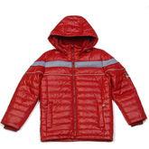 Модная весенняя куртка Kiko для мальчика (бордо/серый)