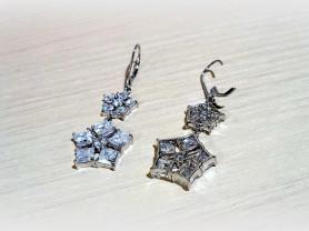 Серьги серебряные с фианитами N39