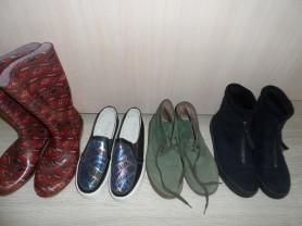 Новые и мало б/у резиновые сапоги ботинки слипоны