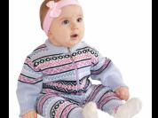 Комбинезон вязаный для новорожденного АНГЕЛ/12 мес