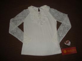 Новая школьная блузка д/д Alolika. Размер 128.