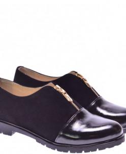 Женские комбинированные туфли на молнии