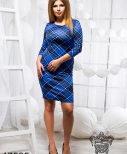 Облегающее платье в ромбик - 17595