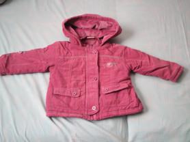 Вельветовая куртка на флисе 80-86рр