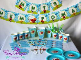 Набор для декора дня рождения Мишки Мимимишки
