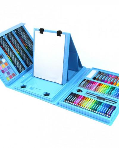 Набор для рисования (творчества) с мольбертом 176 предметов.