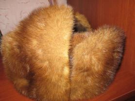 Норковая шапка мужская 56-57р