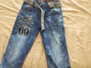 Продаю джинсовые капри 15 размер б/у