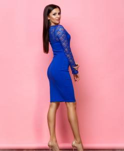 Женское нарядное платье Аделька электрик