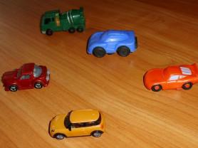 Машинки мини длина 4-5 см - 5 штук 1 лот