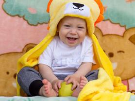 Плед-полотенце с капюшоном для малыша