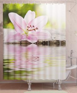 Фотоштора для ванной Водная гладь