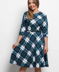 Женское платье 15860 зеленый